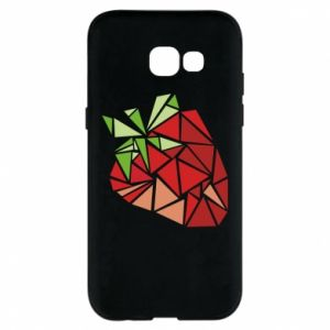 Etui na Samsung A5 2017 Strawberry red graphics