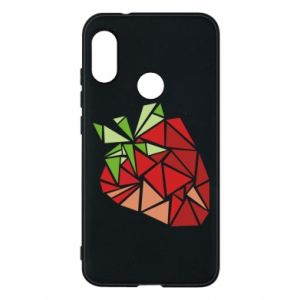 Etui na Mi A2 Lite Strawberry red graphics