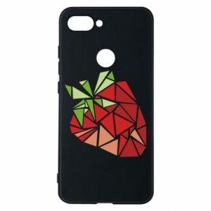 Etui na Xiaomi Mi8 Lite Strawberry red graphics