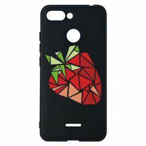 Etui na Xiaomi Redmi 6 Strawberry red graphics