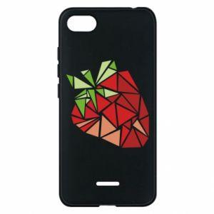 Etui na Xiaomi Redmi 6A Strawberry red graphics