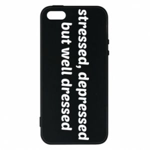 Etui na iPhone 5/5S/SE Stressed depressed but well dressed