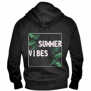 Men's zip up hoodie Summer vibes