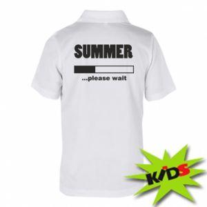 Koszulka polo dziecięca Summer. Loading