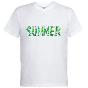 Men's V-neck t-shirt Summer
