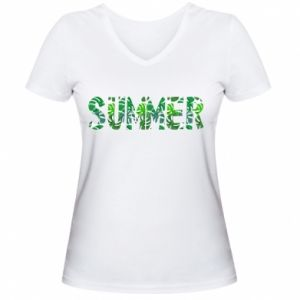 Women's V-neck t-shirt Summer