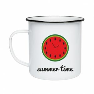 Enameled mug Summer time