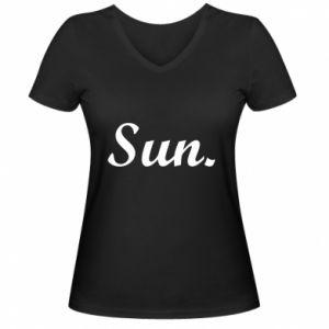 Damska koszulka V-neck Sunday