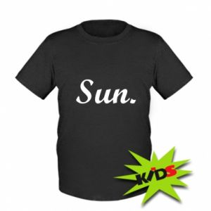 Dziecięcy T-shirt Sunday