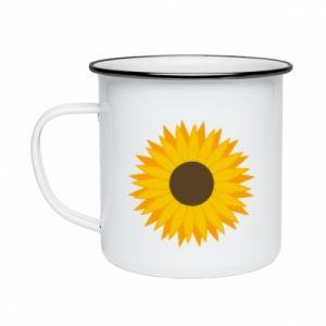 Kubek emaliowany Sunflower