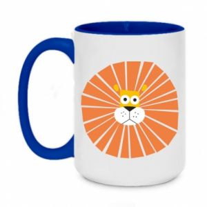 Two-toned mug 450ml Sunny lion