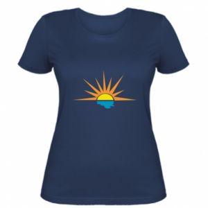 Damska koszulka Sunset sun sea