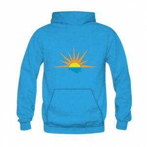 Bluza z kapturem dziecięca Sunset sun sea