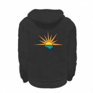 Bluza na zamek dziecięca Sunset sun sea