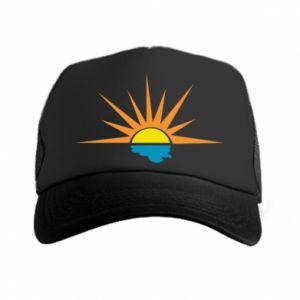 Czapka trucker Sunset sun sea