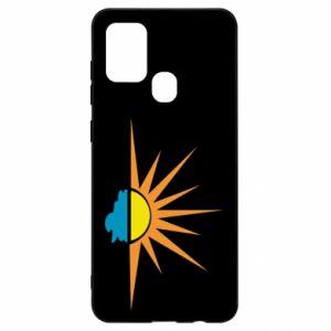 Etui na Samsung A21s Sunset sun sea