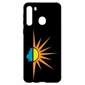 Etui na Samsung A21 Sunset sun sea