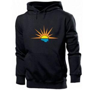 Men's hoodie Sunset sun sea