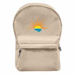 Plecak z przednią kieszenią Sunset sun sea