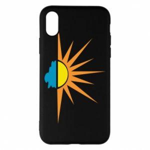 Etui na iPhone X/Xs Sunset sun sea