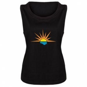 Damska koszulka bez rękawów Sunset sun sea