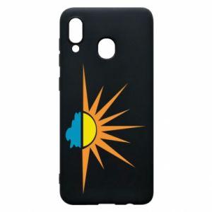 Etui na Samsung A20 Sunset sun sea