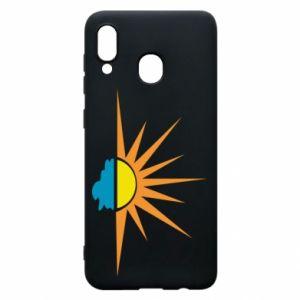 Etui na Samsung A30 Sunset sun sea
