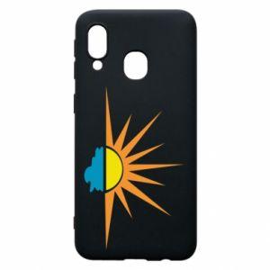 Etui na Samsung A40 Sunset sun sea