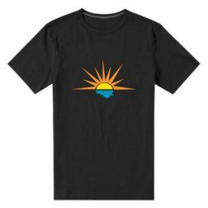 Męska premium koszulka Sunset sun sea