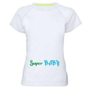 Koszulka sportowa damska Super baby. Color