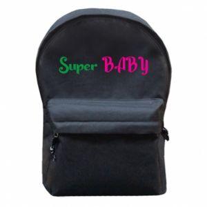 Plecak z przednią kieszenią Super baby. Color