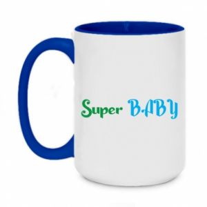 Two-toned mug 450ml Super baby. Color