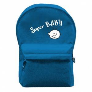 Plecak z przednią kieszenią Super baby