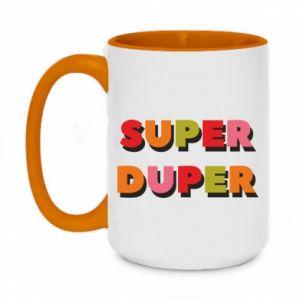 Two-toned mug 450ml Super duper