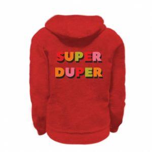 Kid's zipped hoodie % print% Super duper