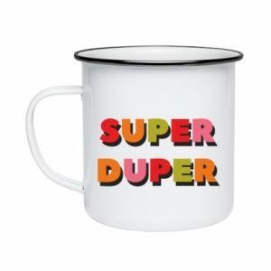 Enameled mug Super duper