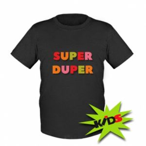 Kids T-shirt Super duper