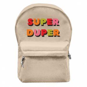 Backpack with front pocket Super duper