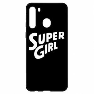 Etui na Samsung A21 Super girl