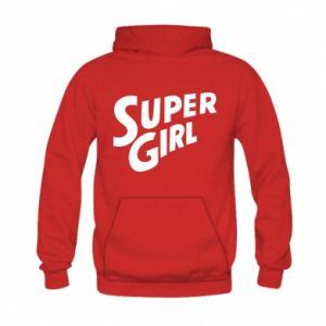 Bluza z kapturem dziecięca Super girl