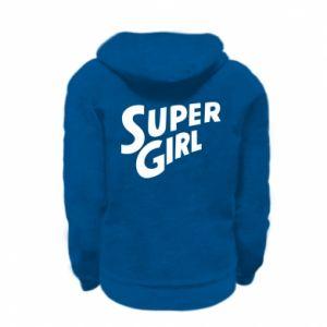 Bluza na zamek dziecięca Super girl
