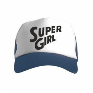 Czapka trucker dziecięca Super girl