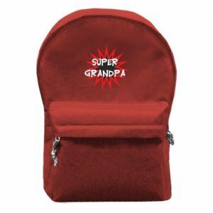 Plecak z przednią kieszenią Super grandpa