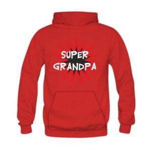 Bluza z kapturem dziecięca Super grandpa