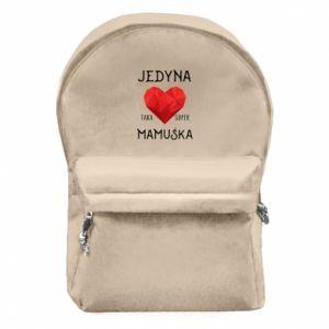 Plecak z przednią kieszenią Super mamuśka