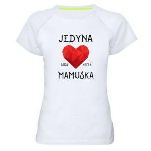 Damska koszulka sportowa Super mamuśka