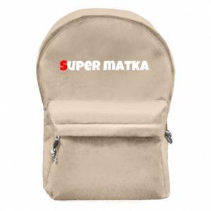 Plecak z przednią kieszenią Super matka