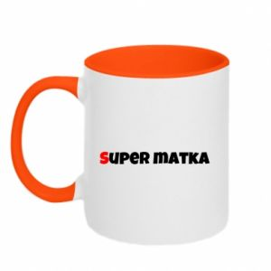 Two-toned mug Super mother