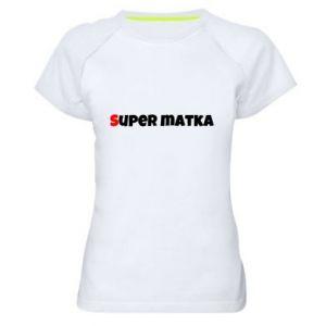 Damska koszulka sportowa Super matka