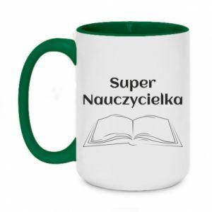 Two-toned mug 450ml Super teacher